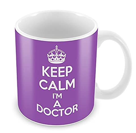 PURPLE KEEP CALM I'm A Doctor Mug Coffee Cup Gift