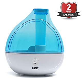 Ultrasonic Cool Mist Humidifier 1500 ml, with Up to 16 Hours Continuous Use - Humidifiers for Home, Yoga, Office, Bedroom- Replacement Guaranteed [NOT an Aroma Diffuser]