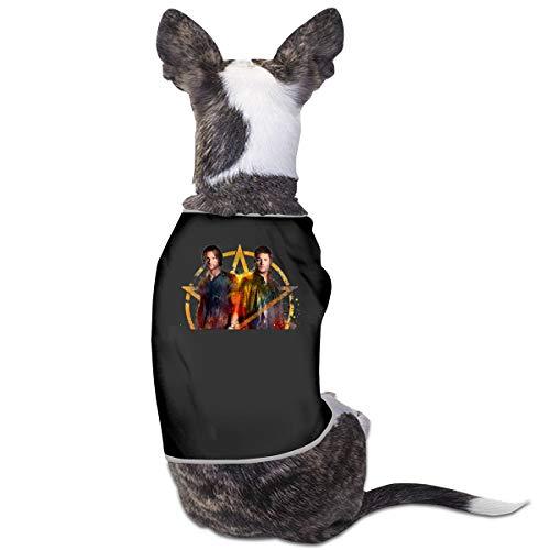 Jiaojiaozhe Supernatural Pet Service Pet Clothing Funny Dog Cat Costume Tshirt Black (Black Cat Boy Kostüm)