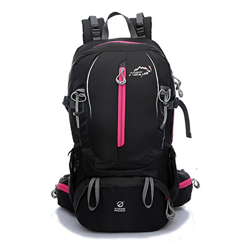 Neu Bergsteigen Nylon Rucksack Mode Sport Reisen Tasche 40L Black