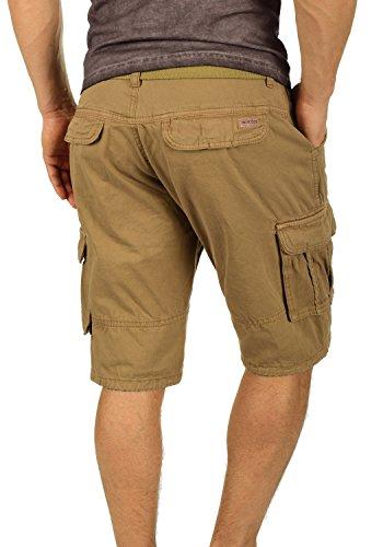 INDICODE Costa Herren Cargo-Shorts kurze Hose Shorts mit Gürtel aus 100% Baumwolle  Cumnin ...