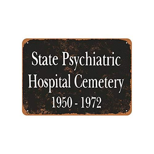 Tiukiu 1972 State Psychiatric Hospital Cemetery Vintage Look Metal Sign (State Hospital)
