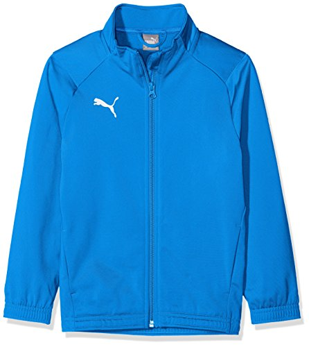 PUMA Jungen Liga Sideline Poly Jacket Core Jr Jacke Electric Blue Lemonade White, 152