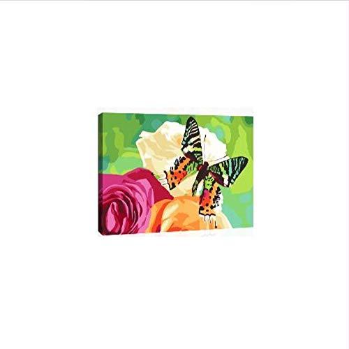 kdbshfm Hot X1523 Blume Nektar Farbe Nach Anzahl Kit DIY Acrylmalerei Auf Leinwand Cuadros Decoracion Für Wohnkultur