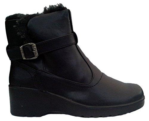 Cushion Walk Womens Comfort Fit Winter Boots - Kacy Black (6 uk)