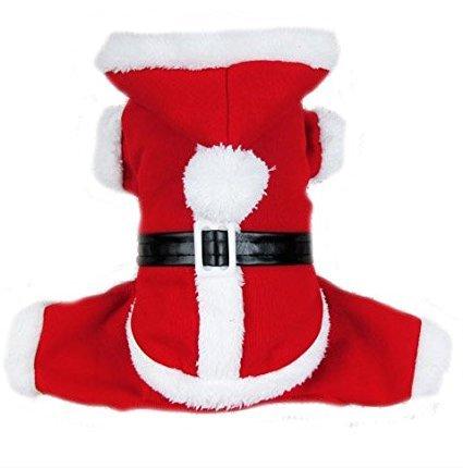 Imagen de petleso cachorro perro abrigo de perro de papá noel disfraz de navidad con un led intermitente perro etiqueta