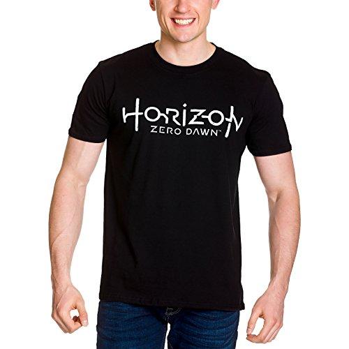 horizon-zero-dawn-t-shirt-uomo-con-logo-cotone-nero-m