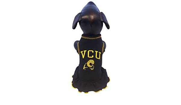 NCAA Virginia Commonwealth Rams Cheerleader Dog Dress Team Color, Large