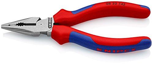 KNIPEX 08 22 145 Spitzkombizange mit Mehrkomponenten-Hüllen