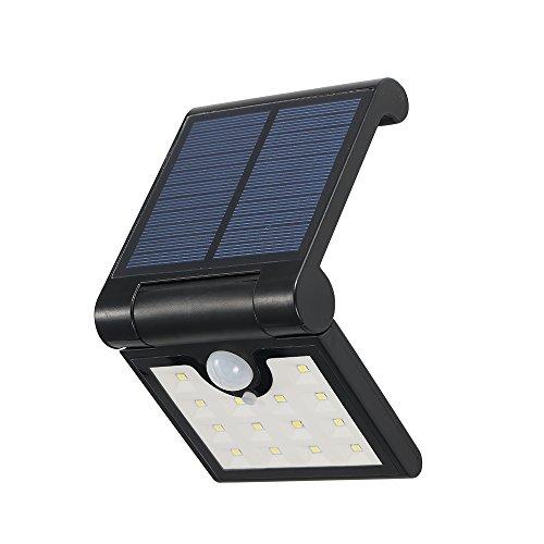 Im Bewegung Empfindlich Licht Freien (Lixada 14 LEDs Faltbare Solarbetriebene Energie-Wand-Lampe mit Empfindlicher PIR-Bewegungs-Sensor-Lichtsteuerung IP65 Wasserbeständigkeit SMD2835 für Patio-Yard-Garten im Freien.)