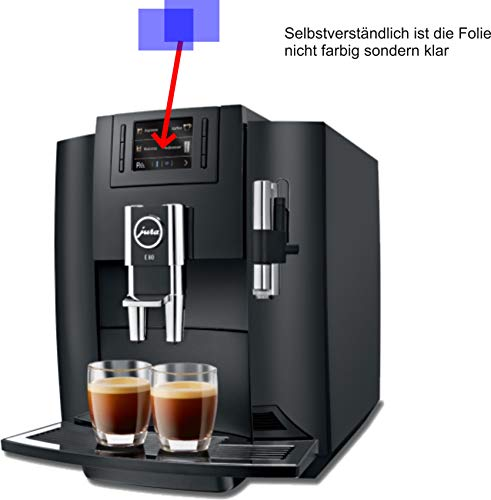 2X ANTIREFLEX matt Schutzfolie für Jura E80 Piano Black 15083 Kaffeevollautomat Displayschutzfolie Bildschirmschutzfolie Schutzhülle Displayschutz Displayfolie Folie E80 Display