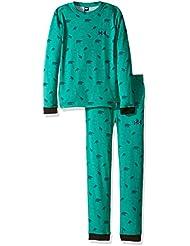 Helly Hansen K Hh Active Flow Set - Set prendas interiores con camiseta y mallas para niños, color verde, talla 86/1