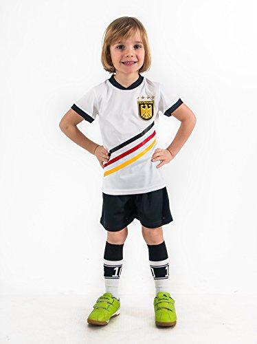 Weihnachtsgeschenk Fußball Trikotset Trikot Kinder 4 Sterne Deutschland WUNSCHNAME Nummer Geschenk Größe 98-176 T-Shirt Weltmeister 2014 Fanartikel EM 2016