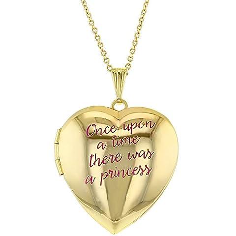 Gold Tone Pink Heart Shaped Photo Locket Girls Kids Pendant