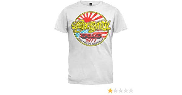 8339a745a04 Old Glory - Aerosmith - Mens Boston To Budokan Soft T-shirt X-Large White   Amazon.co.uk  Clothing
