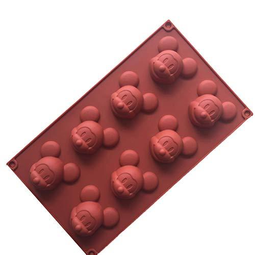 use Silikon-Kuchen-Muffin-Formen Kuchen Bakeware DIY Soap-EIS-Form 8 Cavity Siliconbasis Schokolade Teacake Backblech Kreatives Gestalten ()