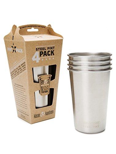 Klean Kanteen Pint Cup - - 473ml, 4er Pack gris vaisselle