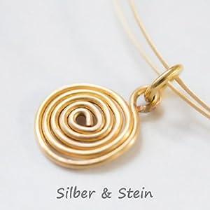 Goldener Hals-Reif mit handgebogener Spirale - Design von Silber&Stein