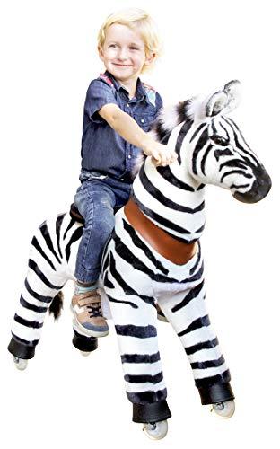 """Ponycycle \"""" Marty \"""" Zebra, Pony auf Rollen fahrendes Schaukelpferd und Kuscheltier für Ihr Kind von MyPony (Medium)"""