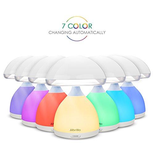 Albrillo kabellose LED Nachttischlampe mit Stimmungslicht Farbwechsel