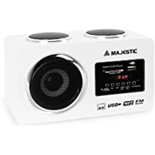 Majestic AH 173 Radio compacta MP3 USB SD AUX blanca
