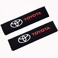 Fitracker - 1 par de almohadillas para cinturón de seguridad de coche, bordadas, con