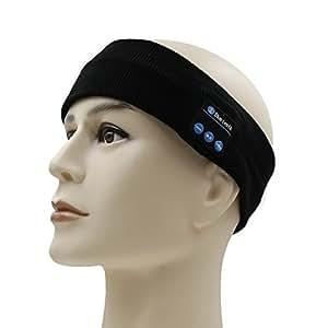 Bluetooth Headphones Headband,Amytech Amytech Wireless Yoga Sports Headband Sleep Headphones Headset Best Noise Cancelling Running Headphones with Mic Built-in Stereo Speakers Running Sports Bluetooth Headband (Black)