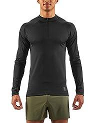Skins Trooper Midlayer L/S Fleece 1/2 Zip Men Black 2017 Laufshirt