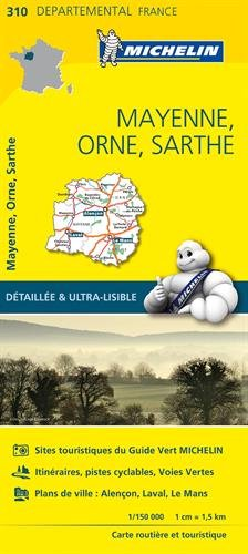 Carte Mayenne, Orne, Sarthe Michelin par Collectif Michelin