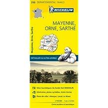 Carte Mayenne, Orne, Sarthe Michelin