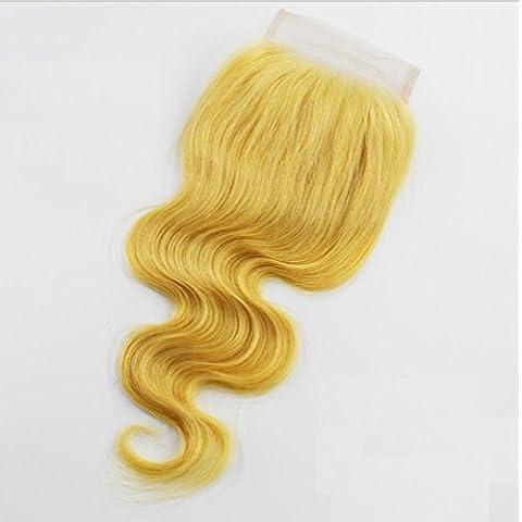 Meydlee AccessoriPosticci vergine capelli corpo onda pizzo chiusura svizzero pizzo chiusure completo (8-24 pollici) capelli accessori di bellezza , 14 inch