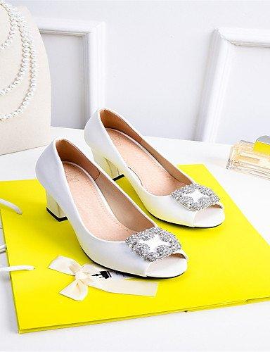 LFNLYX Chaussures Femme-Mariage / Habillé / Soirée & Evénement-Bleu / Rose / Blanc-Gros Talon-Talons / Bout Ouvert-Sandales-Matières Pink