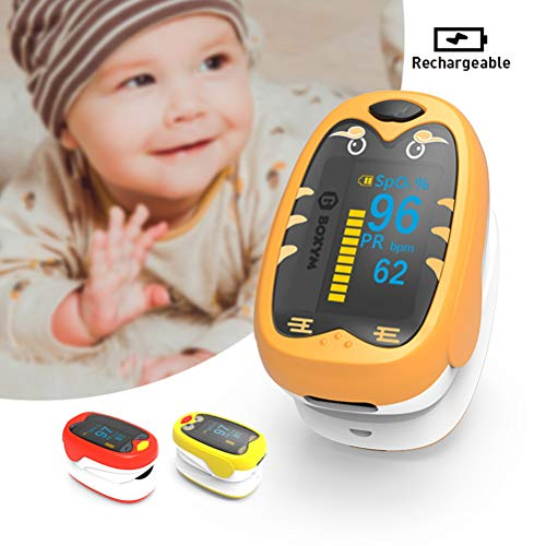 FMXYMC Fingertip Pulsoximeter Oximetrie Blutsauerstoffsättigungsmonitor Neugeborenen Ce-Zertifizierung Lanyard,Orange