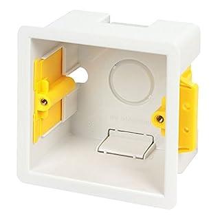 Packs Einbaudose quadratisch 47mm weiß–Appleby