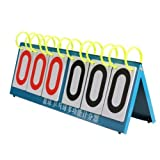Dealglad® Multi Sport Sechs Ziffer Flip Anzeigetafel für Wissen Contest Basketball