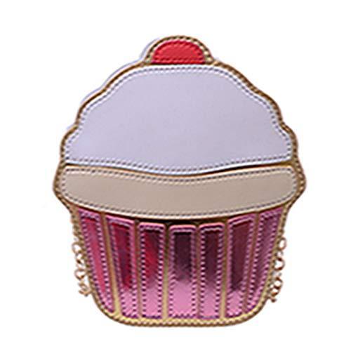 OneMoreT Damen Clutch/Handtasche aus PU-Leder mit süßem Cartoon-Motiv cupcake