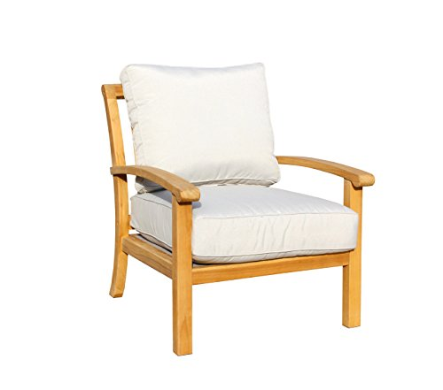 Courtyard Casual Natural Heritage Outdoor Teak Lounge Chair -