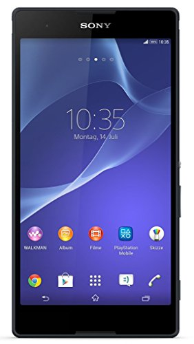 Image of Sony Xperia T2 Ultra Smartphone (15,2 cm (6 Zoll) HD-Display, 1,4 GHz-Quad-Core-Prozessor, 13 Megapixel-Kamera, 8 GB interner Speicher, Android 5.0) schwarz