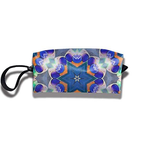 Zirkus-Kaleidoskop-Blumen-Blumen-Make-uptasche Reise-Fall-Kosmetiktasche - Aufbewahrungstasche Clutch with Hook & Hanging