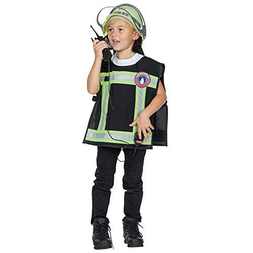 PARTY DISCOUNT® Kinder-Kostüm Feuerwehr Weste + Handy, Gr. 104