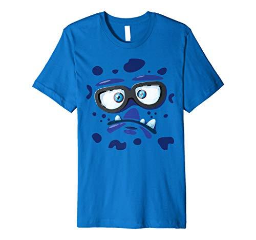 (Nerd Monster Face T-Shirt Funny Kids Gifts Halloween Costume)