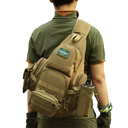 9dfdb30a89 HY&Oudorts Sac bandoulière Tactique pour Ordinateur Portable Molle  imperméable Sac à Dos Militaire Camping randonnée Sac
