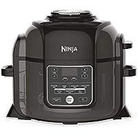 Ninja Foodi Pressure and Multi [OP300EU] Air Fryer, Slow Cooker, Black, Olla a Presión y Freidora de Aire, Negro y Gris