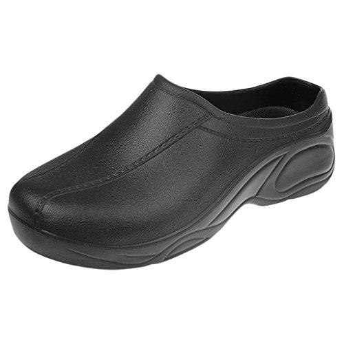 Gazechimp Zapatos de Enfermería Médico de Cocinero de Mujeres Hombres Plástico Sin Agujero Resistente al Agua - Negro, 37