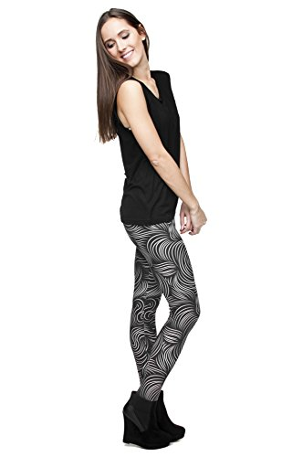 Kukubird Gedruckte Muster Frauen Yoga Leggings Gym Fitness Running Pilates Strumpfhose Skinny Pants 8 bis 12 Stretchable Hair