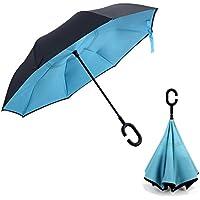 Doppio strato invertito ombrello, Pococina creativo impermeabile resistente, anti-vento, manico