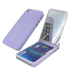 Coque porte carte/miroir pour Iphone 4/4s Parme