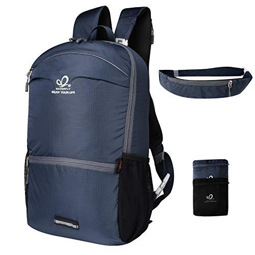 Dekinmax waterfly zaino escursionismo multiuso impermeabile 32 litri per campeggio alpinismo trekking viaggio (blu scuro)