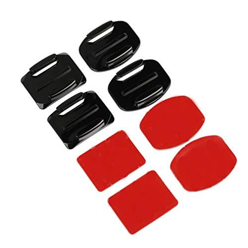 Manalada® Klebehalterungen für GoPro 7 6 5 4 3 Curved Pad 3M Sticky Pads