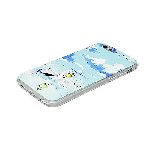iPhone 7 Silikon Hülle,iPhone 7 Hülle,Sunroyal TPU Case Schutzhülle Silikon Crystal Kirstall Gel Case,Kreativ Schwarz Astronaut Weltall Relief Malerei Muster Weichem Silikon Schutzhülle Handy Gürtel T Pattern 10